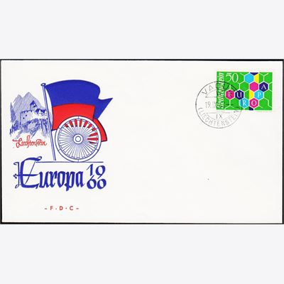 Liechtenstein Europa Liechtenstein 398 Europa 1960 Fdc