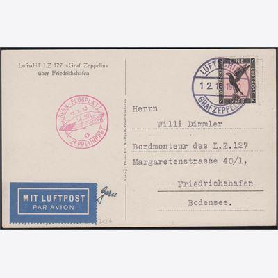 1929 LZ 127 (GRAF ZEPPELIN) RÜCKFAHRT USA DEUTSCHLAND