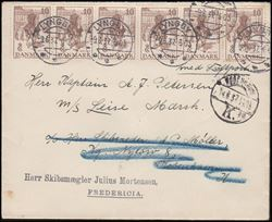 porto post danmark breve